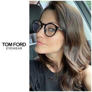Tom Ford Blue Light Glasses - Round Black FT5529-B